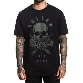 tričko pánske SULLEN - 3 ROSES - BLACK, SULLEN