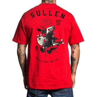 tričko pánske SULLEN - LOVE MACHINE - RED, SULLEN