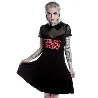 šaty dámske KILLSTAR - MARILYN MANSON - sadať- Black, KILLSTAR, Marilyn Manson