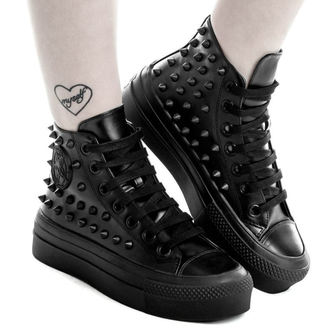 topánky KILLSTAR - SOULED OUT HIGH TOPS - BLACK