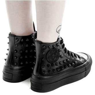 topánky KILLSTAR - SOULED OUT HIGH TOPS - BLACK - K-FTW-F-2690