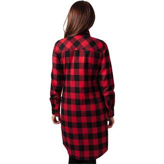 šaty dámske URBAN CLASSICS - checked Flanell, URBAN CLASSICS