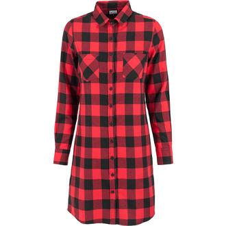 šaty dámske URBAN CLASSICS - checked Flanell - TB1216 blk / red