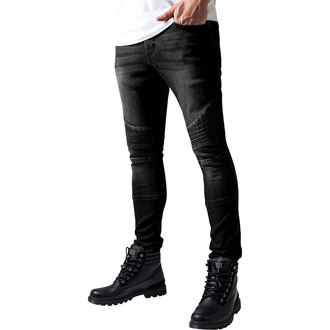 nohavice pánske URBAN CLASSICS - Slim Fit Biker Jeans, URBAN CLASSICS