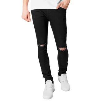 nohavice pánske URBAN CLASSICS - Slim Fit Knee Cut Denim, URBAN CLASSICS
