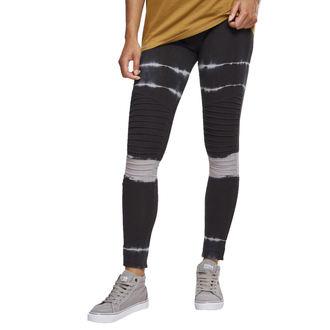 nohavice dámske (legíny) URBAN CLASSICS - Tie Dye Biker - blk / lt.grey, URBAN CLASSICS