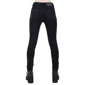 nohavice dámske KILLSTAR - Trash Talk Jeans - BLACK, KILLSTAR