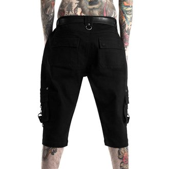 kraťasy pánske KILLSTAR - TWISTED CARGO - BLACK, KILLSTAR
