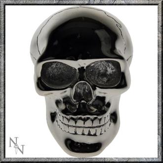 dekorácia -hlavica radiacou páky- Silver Skull Gear
