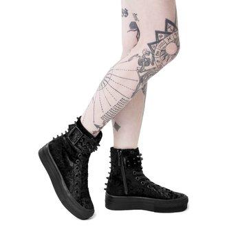 topánky dámske KILLSTAR - UNHOLY HIGH TOPS - Velvet - BLACK, KILLSTAR