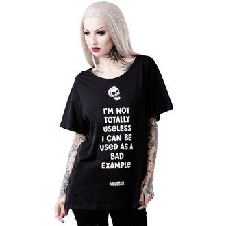 tričko dámske KILLSTAR - USELESS RELAXED - BLACK, KILLSTAR