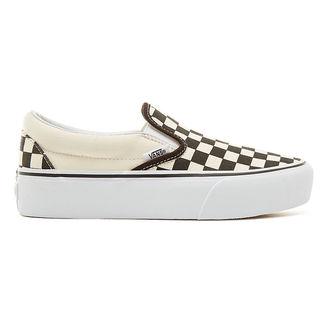 ... topánky dámske VANS - UA CLASSIC SLIP-ON PLATFORM Blk WhtCh ... 078bf215233