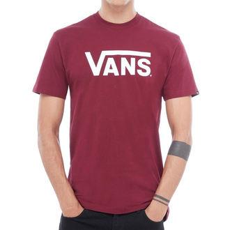 tričko pánske VANS - MN VANS CLASSIC - Burgundy / White, VANS