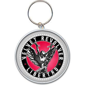 kľúčenka - prívesok Velvet Revolver (Circle Logo) - ROCK OFF, ROCK OFF, Velvet Revolver