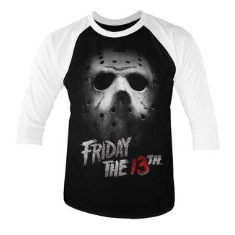 tričko pánske s 3/4 rukávom Friday the 13th (piatok trinásteho) - White - HYBRIS, HYBRIS