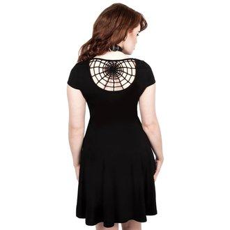 šaty dámske KILLSTAR - WIDOWS SKATER - BLACK, KILLSTAR