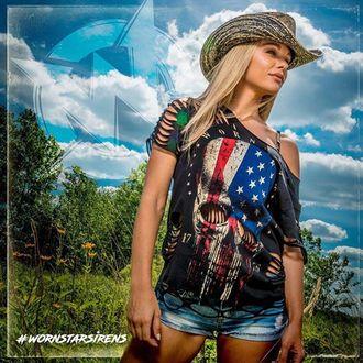 klobúk WORNSTAR - Hellrider Black & Natural Rocker Cowboy, WORNSTAR
