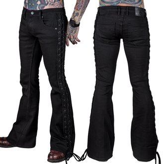 nohavice pánske (jeans) WORNSTAR - Starchaser - Black Denim Flare Cut - Black, WORNSTAR