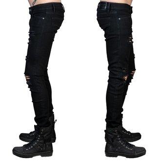 nohavice pánske (jeans) WORNSTAR - Rampager Shredded - Black, WORNSTAR