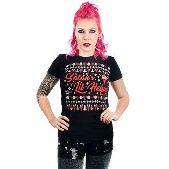 tričko dámske TOO FAST - SATAN'S LIL HELPER EVIL CHRISTMAS BABYDOLL, TOO FAST