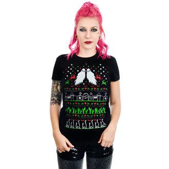tričko dámske TOO FAST - GRAVE Robbery ZOMBIE XMAS VS HALLOWEEN BABYDOLL CHRISTMAS, TOO FAST