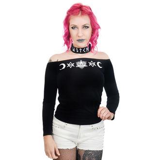 tričko dámske s dlhým rukávom TOO FAST - TABITHA CHOKER - WITCH OCCULT SYMBOLS, TOO FAST
