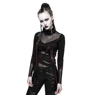 tričko dámske s dlhým rukávom PUNK RAVE - Brute - black / red, PUNK RAVE