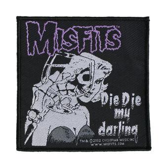 nášivka MISFITS - DIE DIE MY DARLING - RAZAMATAZ, RAZAMATAZ, Misfits