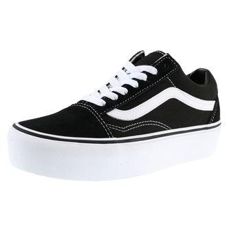 topánky VANS - OLD SKOOL - platforme Black/White, VANS
