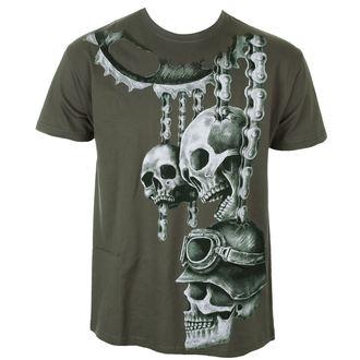 tričko pánske ALISTAR - Motor Skulls - Khaki, ALISTAR