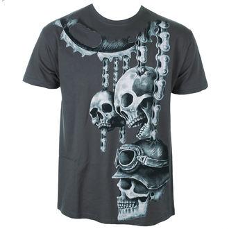 tričko pánske ALISTAR - Motor Skulls - Grey, ALISTAR