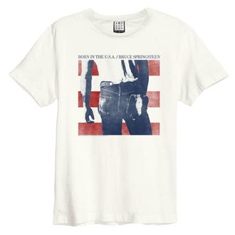 tričko pánske BRUCE SPRINGSTEEN - BORN IN THE USA - VINTAGE WHITE - AMPLIFIED, AMPLIFIED, Bruce Springsteen
