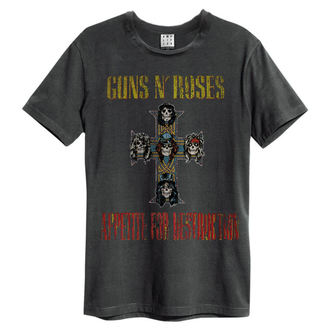 tričko pánske Guns N' Roses - APPETITE FOR DESTRUCTION - Charcoal - AMPLIFIED, AMPLIFIED, Guns N' Roses