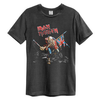 tričko pánske IRON MAIDEN - 80S TOUR - Charcoal - AMPLIFIED, AMPLIFIED, Iron Maiden