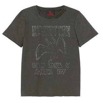 tričko detské Led Zeppelin - US 77 Tour - Charcoal - AMPLIFIED - ZAV450LT7