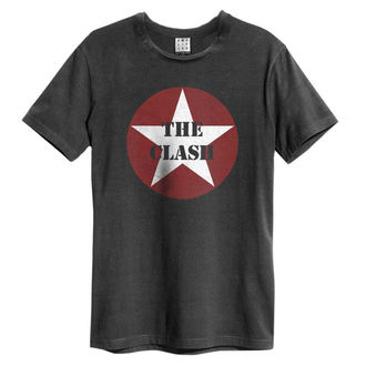 tričko pánske The Clash - Star Logo - Charcoal - AMPLIFIED, AMPLIFIED, Clash