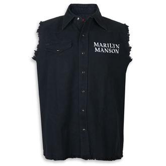 košele pánska bez rukávov (vesta) Marilyn Manson - Cross Logo - RAZAMATAZ, RAZAMATAZ, Marilyn Manson
