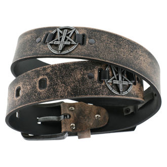 opasok Pentagram Cross - brown, JM LEATHER