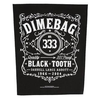 nášivka veľká DIMEBAG DARRELL - BLACK TOOTH - RAZAMATAZ, RAZAMATAZ, Dimebag Darrell
