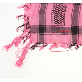 šatka ARAFAT - palestina - lebka 29 - ružová - POŠKODENÝ