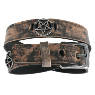 opasok Pentagram - brown, JM LEATHER