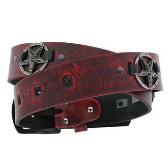 opasok Baphomet - red, JM LEATHER