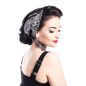 šatka ROCKABELLA - BAND ONE BANDANA - BLACK, ROCKABELLA