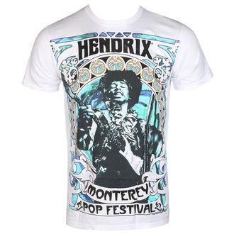tričko pánske Jimi Hendrix - MONTEREY '67 - White - BRAVADO, BRAVADO, Jimi Hendrix