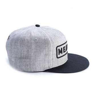 šiltovka MEATFLY - SPON SNAPBACK D - GREY HEATHER / BLACK, MEATFLY