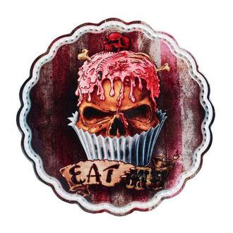 dekorácia (servírovacie tanierik) ALCHEMY GOTHIC - Skull Cupcake, ALCHEMY GOTHIC