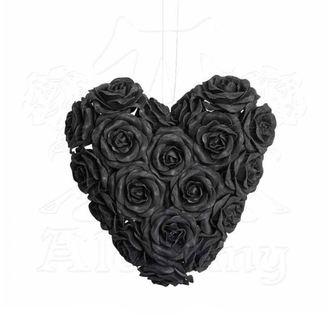 dekorácia ALCHEMY GOTHIC - Black Rose Heart, ALCHEMY GOTHIC