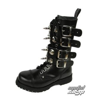 topánky BOOTS & BRACES - Scare 4-buckles - ČIERNE, BOOTS & BRACES