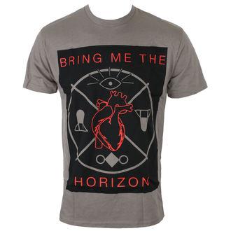 tričko pánske Bring Me The Horizon - HEARTS & SYMBOLS - GRY - BRAVADO, BRAVADO, Bring Me The Horizon