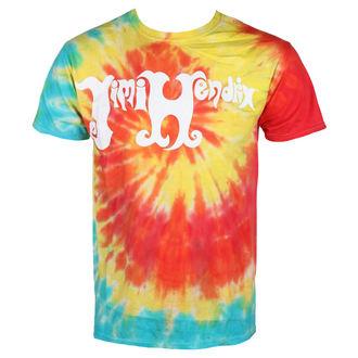 tričko pánske JIMI HENDRIX- TIE DYE LOGO - BRAVADO, BRAVADO, Jimi Hendrix